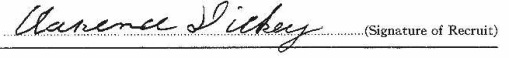 Clarence Dickey signature