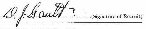 Donald John Gault signature