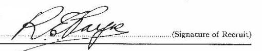 Roy Egerton Payne signature