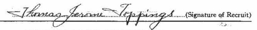 Thomas Jerome Toppings signature