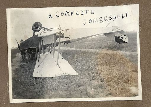 Curtiss JN4A C593 upside-down