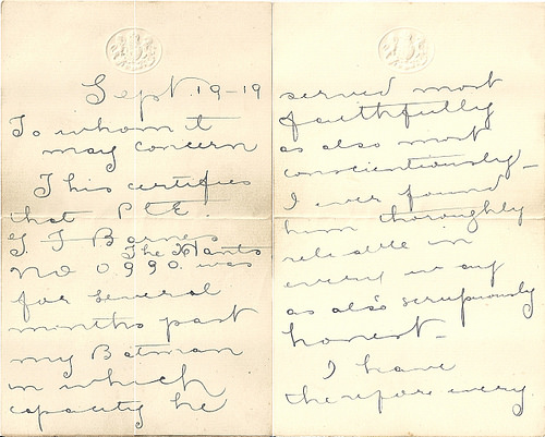 Letter from Harty Morden WIlson
