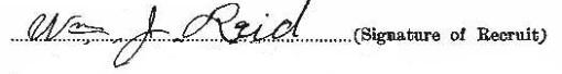 William James Reid signature