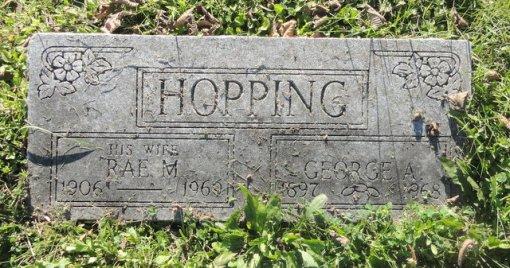 Hopping grave marker