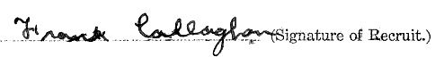 Francis Vincent Callaghan signature
