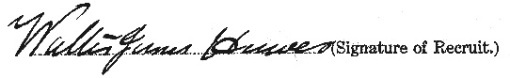 Walter James Hawes signature