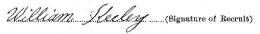 William Keeley signature
