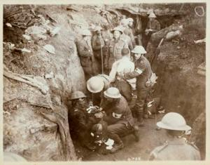 First aid at Courcelette