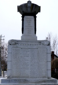 Napanee cenotaph, east side
