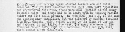 War diary extract 15th Battalion Hill 70