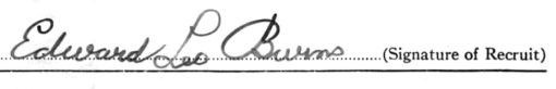 Edward Leo Burns signature