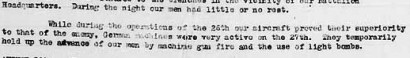 Extract from 21st Battalion war diary 27th August 1918