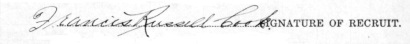Francis Russell Cook signature