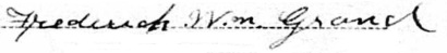 Frederick WIlliam Grand signature