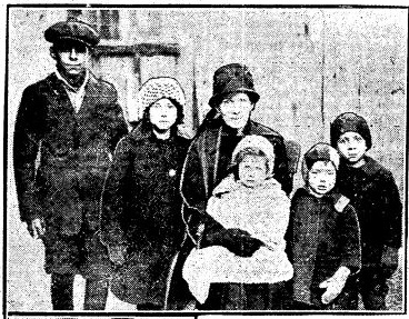Rose Powless and children
