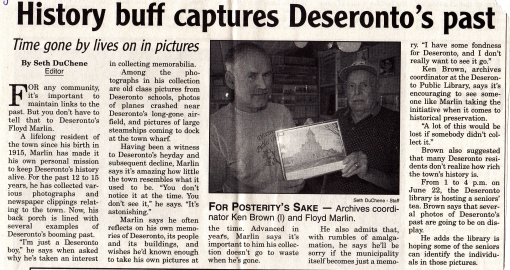 Newspaper article about Floyd Marlin and Ken Brown